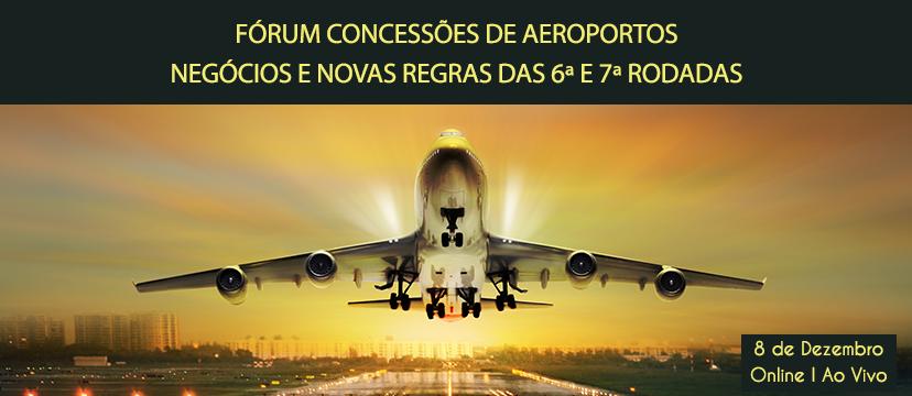 Banner Fórum Concessões de Aeroportos